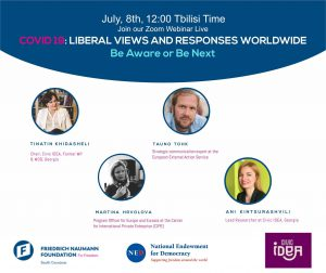 "X webinar on ""Liberal Views and Responses Worldwide: Be Aware or Be Next""."