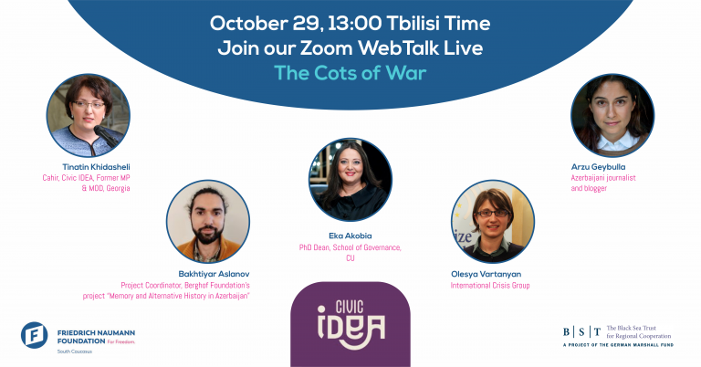 Second webinar on War and Peace issues in the South Caucasus and the costs of war