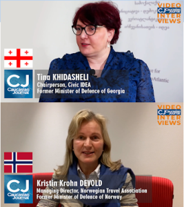 The interview of the Caucasian Journal with the female defense ministers, Tina Khidasheli and Kristin Krohn Devold