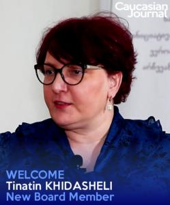 Tinatin Khidasheli became a member of board of Caucasus Journal